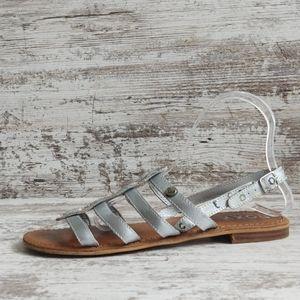Roxy Silver Leather Gladiator Sandal